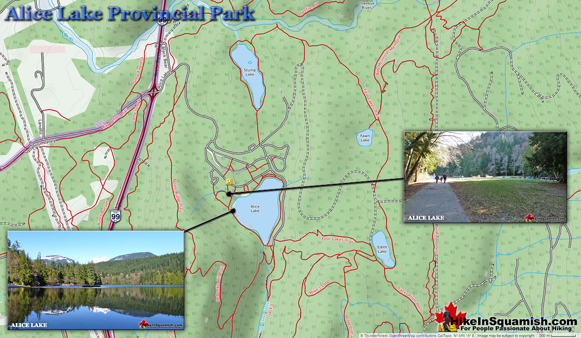 Alice Lake Provincial Park Map