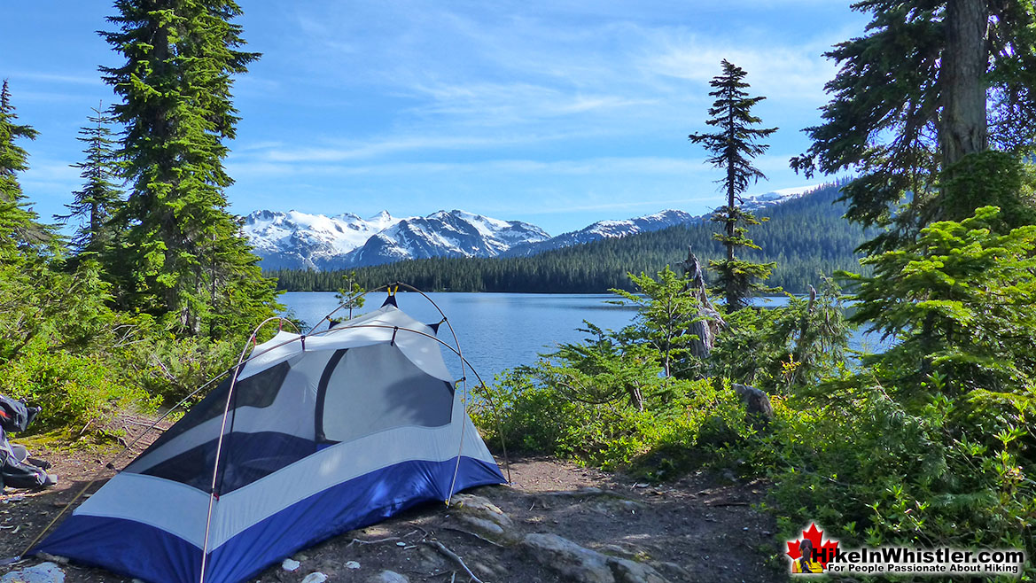 Callaghan Lake Tent View