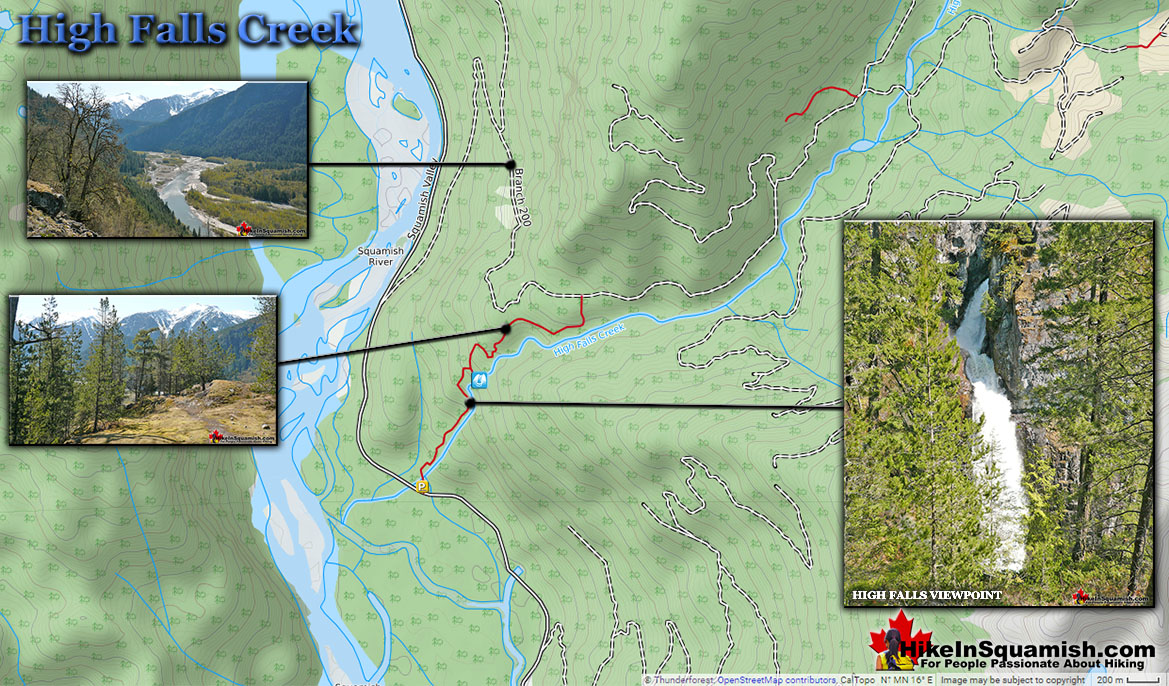 High Falls Creek Map
