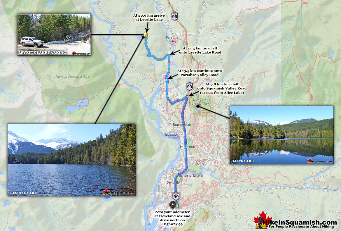 Levette Lake Driving Directions Map