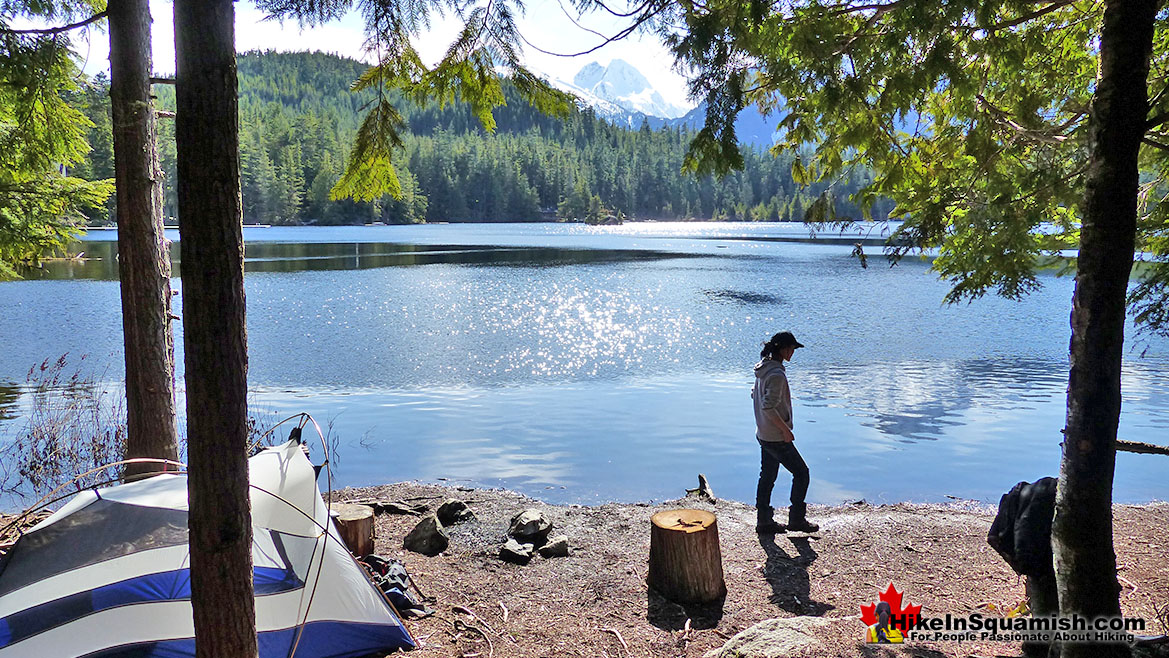 Levette Lake Campsite View