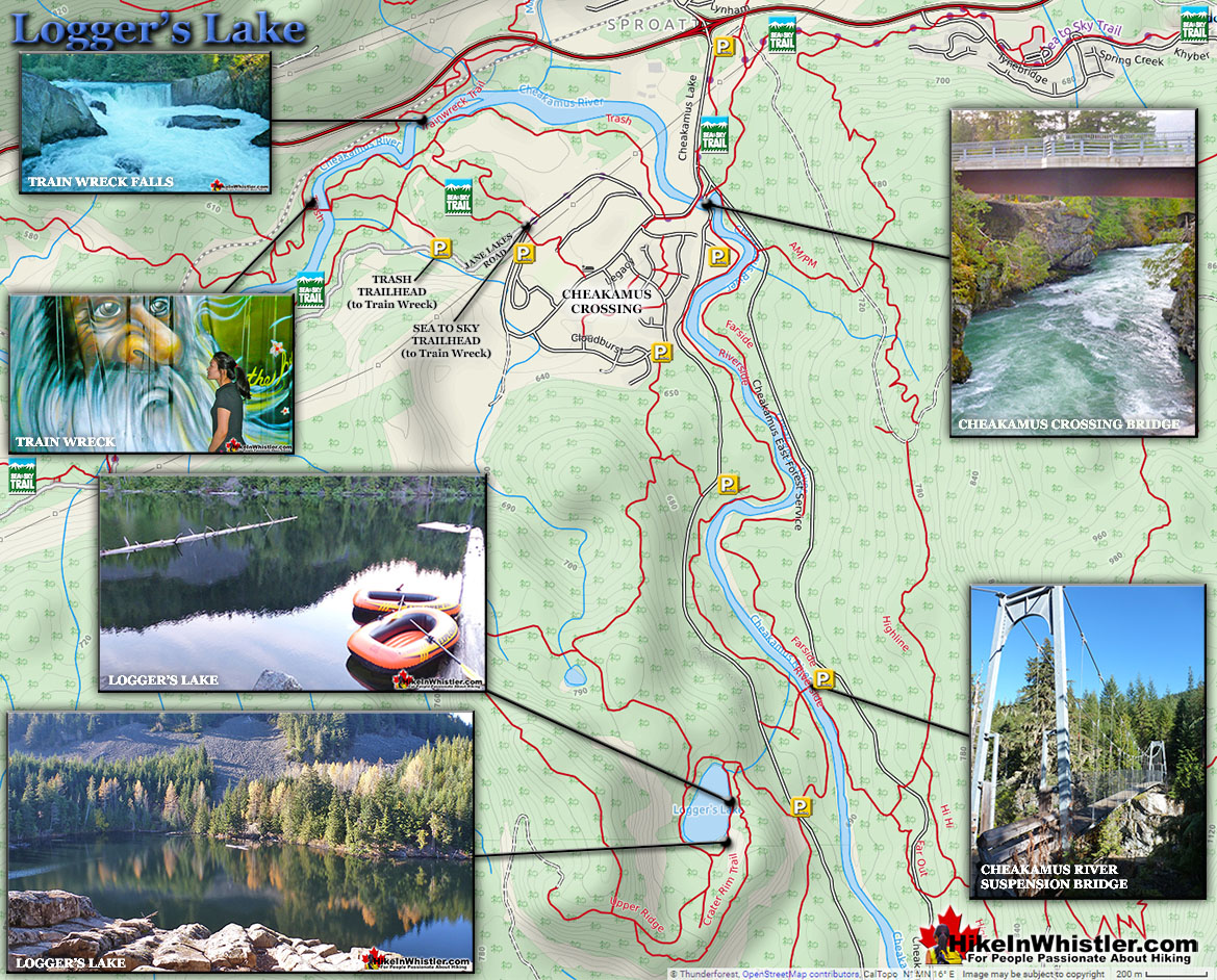 Logger's Lake Trail Map
