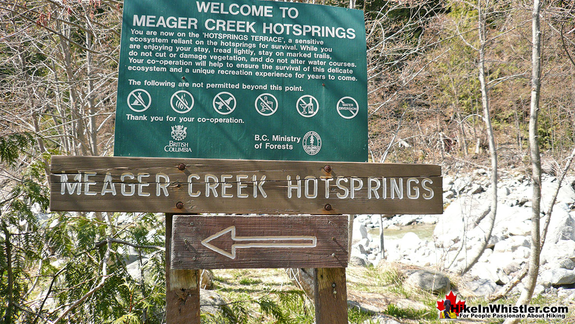 Old Meager Hot Springs Sign