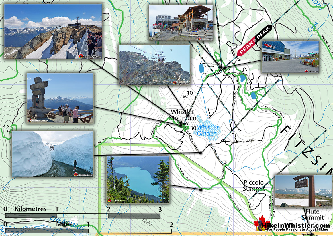 Whistler Mountain Map